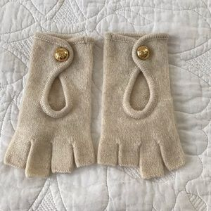 Michael Kors Fingerless Gloves w  MK Gold Buttons